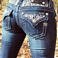 Miss Me Pearl Accented Bootcut Jeans