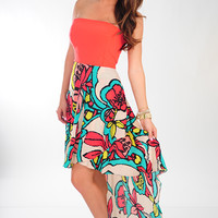 JUDITH MARCH: Just Another Daydream Dress: Multi