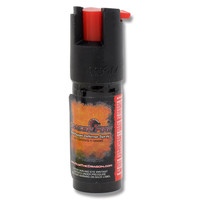 Dragon Fire 1/2oz Red Pepper Spray with Imitation Leather Case Keychain - Black - Default