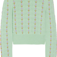 Miu Miu - Pointelle-trimmed cashmere sweater