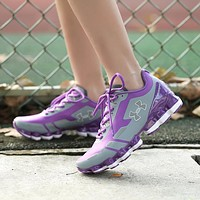 Under Armour UA Scorpio Women Running Shoes Gray Purple White