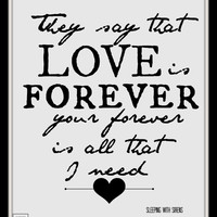"""Sleeping with Sirens """"If I'm James Dean, You're Audrey Hepburn"""" lyric Art Quote 8X10 Typography"""