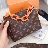 Louis Vuitton LV Classic Personality Women Shopping Leather Shoulder Bag Crossbody Satchel