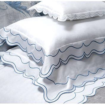 St. Malò Embroidery Bedding by Dea Linens