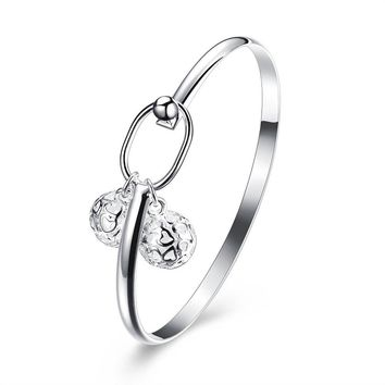 Fashion Solid Alloy Bangle Charm Jewelry