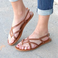 MIA: Cruise Strappy Sandals {Tan} - Size 6