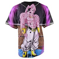 Super Buu Dragon Ball Z Button Up Baseball Jersey
