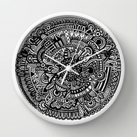 B & W Wall Clock by Designs By Anne