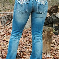 Miss Me Copper Thread Pocket Jeans