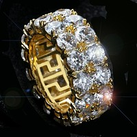 CZ Rings for Solitaire Ring for Men/Women Iced Out Charm Round Ring Band Classic Hip Hop Jewelry for Christmas Gift