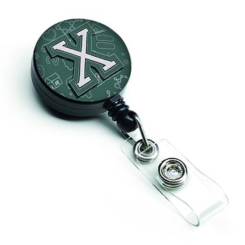 Letter X Back to School Initial Retractable Badge Reel CJ2010-XBR