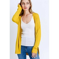 Mustard Yellow Lightweight Cardigan