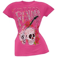 Fender - Skull And Guitar Juniors T-Shirt
