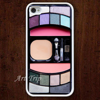 iPhone 4 Case, iphone 4s case --Eyeshadow iphone case, Eyeshadow makeup iphone 4 case, iphone case, iphone 4 hard case
