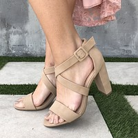 Lover's Lane Strap Heels in Natural