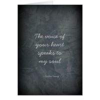The Voice Of Your Heart - Slate Gray Card