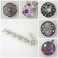 Promo Price! 5 Chunk Charms buttons that will fit ginger snap or Noosa style jewelry. Free Shipping!