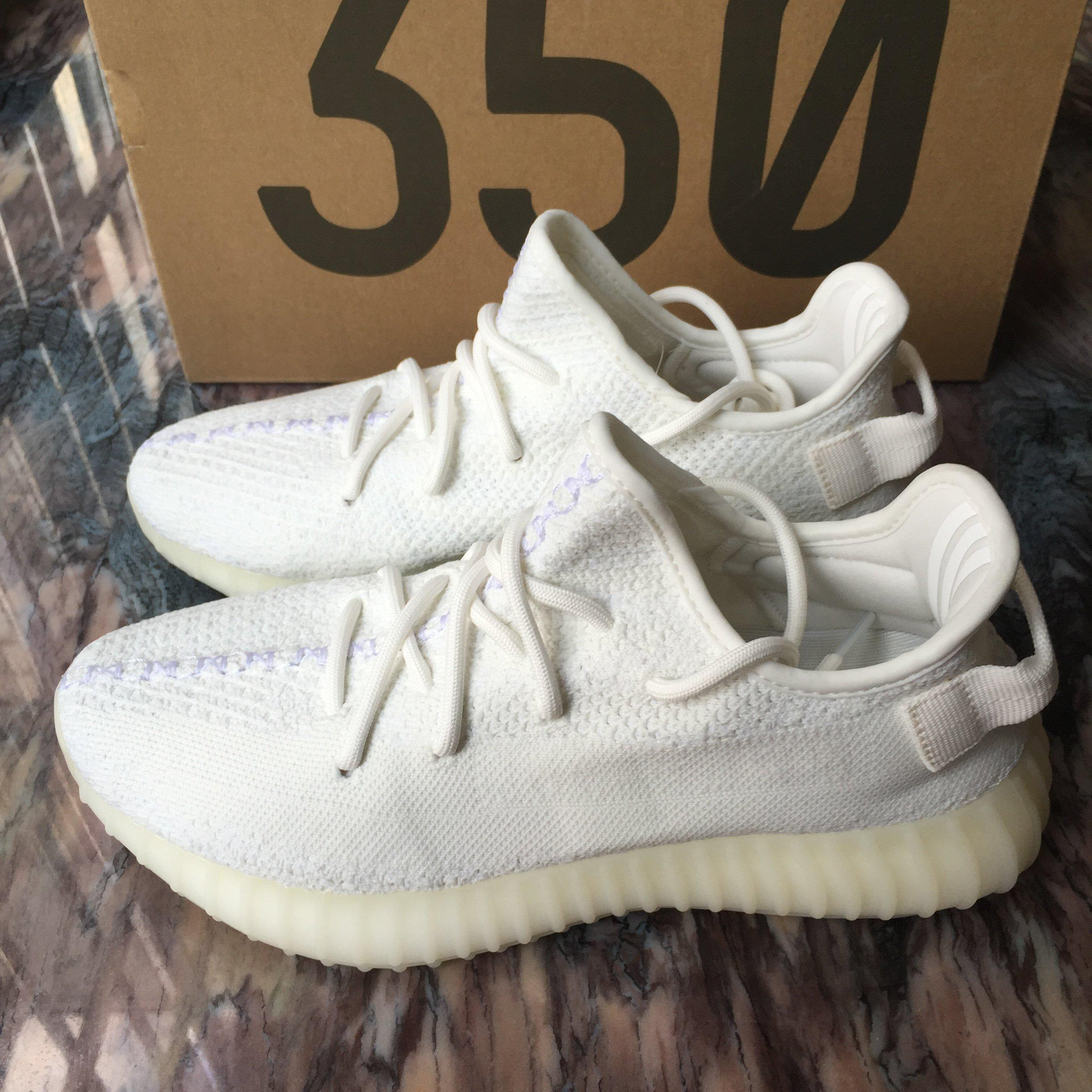 Image of Adidas Yeezy Boost 350 V2 Cream White 2017 Low SPLY Kanye West CP9366 AUTHENTIC