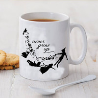 peterpan never grow up mug