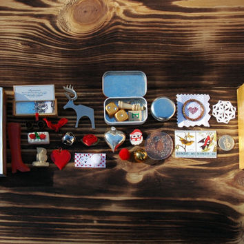 The Polar Express - matchbox filled with tiny things from the North Pole - Chris Van Allsburg