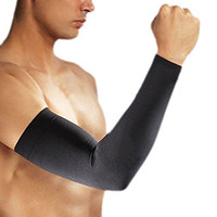Cosmos® 1 Pair Black Color Performance Compression Arm Sleeve for Football, Baseball, Running, Volleyball, & Athletic Sports