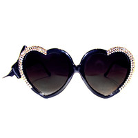 Half-Heart Swarovski® Sunnies in 24karat Gold