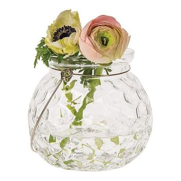 Hannah Clear Hanging Mason Jar Candle Holder and Vase