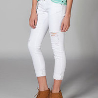 ALMOST FAMOUS Womens Destructed Skinny Jeans