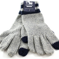 American Eagle TouchPoint Men's Heather Gray Knit Nylon Tech Touch Gloves