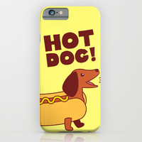 Hot Dog! Dachshund iPhone & iPod Case by TinyBee