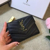 Saint Laurent YSL Leather Wallet