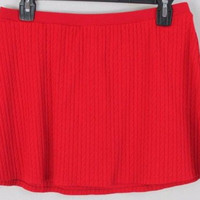 Lauren Ralph Lauren Cable Knit Mini Skirt L size Red Stretch Easy Wear Outdoor