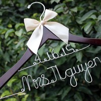 Peacock Wedding Favors Bow Wedding Dress Hanger, Personalized Date And Name Bridal,Handmade Wire Name Hanger, Bridal Gift Personalized Chopsticks Wedding Favors From Guodegang00, $21.99| Dhgate.Com