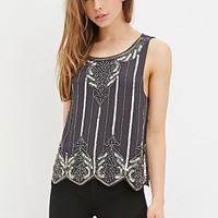 Sequin Chiffon Top