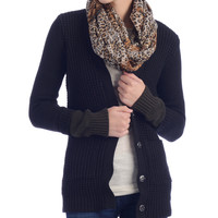 Lucca Couture Olive and Black Cardigan Sweater