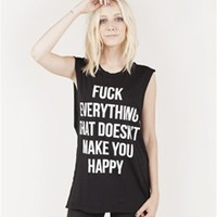 FUCK EVERYTHING Unisex Muscle Tee