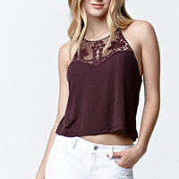LA Hearts Crochet Yoke Rib Racerback Tank Top at PacSun.com