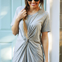 With A Twist Dress: Gray