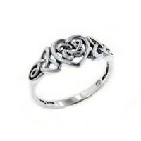 Amazon.com: Sterling Silver Celtic Trinity Knot Heart Ring(Sizes 3,4,5,6,7,8,9,10,11,12,13,14,15): Jewelry