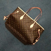 LV ladies shopping fur handbag shoulder bag