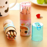 Set of 12 colors Mini wooden pencil in gift package for DIY scrapbook, diary, journal, sketch, drawing P22