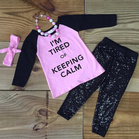 """I'm Tired Of Keeping Calm""  Sequin Outfit"