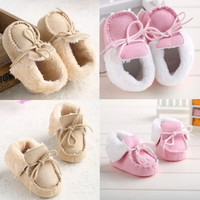Lovely Baby shoes warm winter Boots soft fur toddler crib 3 sizes 0-18 months- @n5 = 1931533508