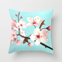 Spring Flowers Throw Pillow by Whimsy Romance & Fun