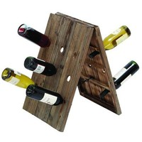 Rustic Collapsible Wine Rack Stand With 18 Slots