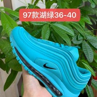 HCXX 19July 954 Nike Air Max 97 Flyknit Breathable Running Shoes Blue