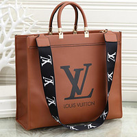 LV Louis Vuitton printed letters shopping bag handbag shoulder bag