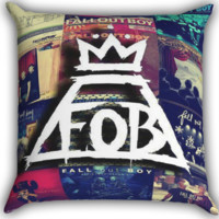 Fall Out Boy Collage Zippered Pillows  Covers 16x16, 18x18, 20x20 Inches