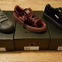 PUMA by Rihanna Women's Velvet Creepers