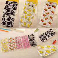 Cute Pattern Soft Silicone TPU Clear Case Cover For Samsung Galaxy S6 S7 Edge